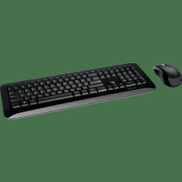 Kit de Teclado y Mouse desktop 850, RF Inalámbrico, color negro