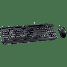 Kit de Teclado y Mouse  Wired Desktop 600, alámbrico, USB, color negro