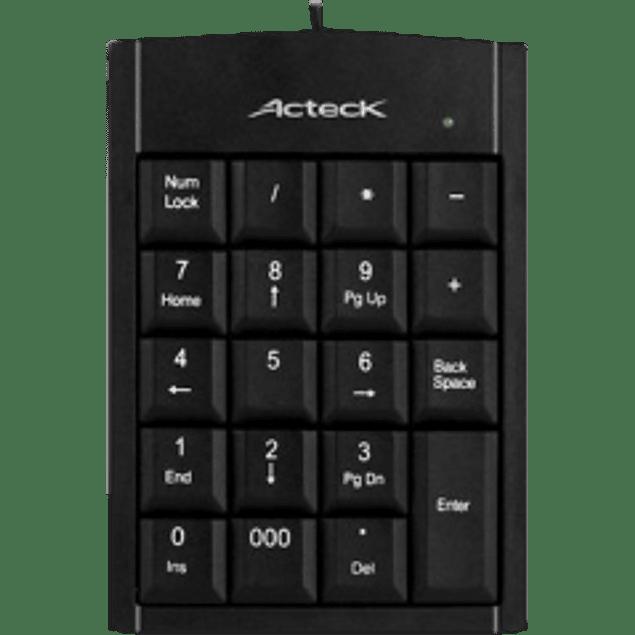 Teclado Numérico KN-350, USB, color negro