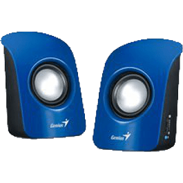 Bocinas SP-U115 1.5 watts, USB, color azul