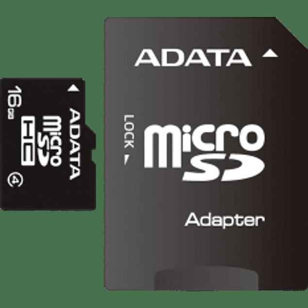 Memoria Micro SD 16 gb Clase 4 con Adaptador