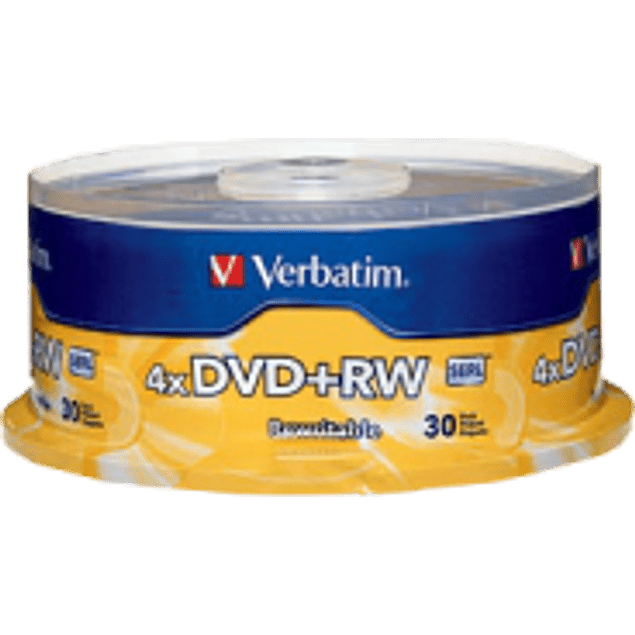 DVD+RW 4.7gb 4x spindle torre con 30 piezas