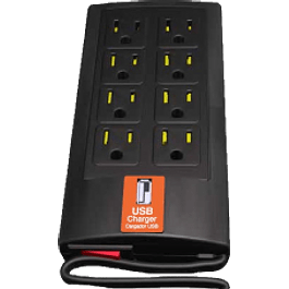Multicontacto supresor de picos con 8 contactos