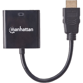 Manhattan Convertidor HDMI Macho - VGA Hembra, color negro