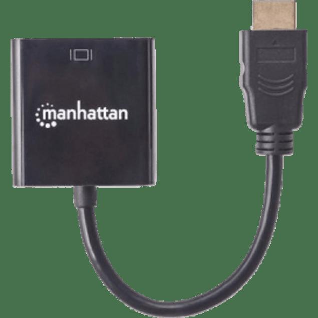 Manhattan Convertidor HDMI Macho - VGA Hembra, color negro