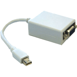 BRobotix Adaptador Mini DisplayPort Macho - VGA Hembra, color blanco