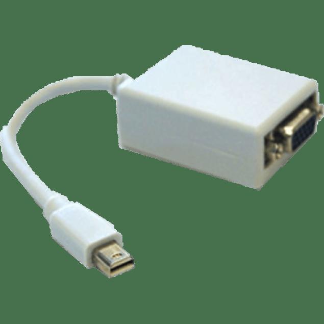 BRobotix Adaptador Mini DisplayPort Macho - VGA Hembra, color blanco