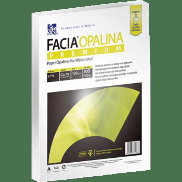 Papel Opalina color Blanco tamaño Carta de 120 grs, paquete con 100 hojas