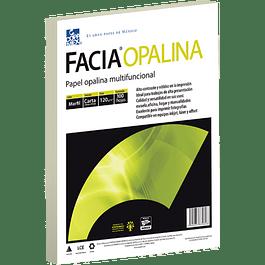 Papel Opalina color Marfil tamaño carta de 120 gramos paquete de 100 hojas