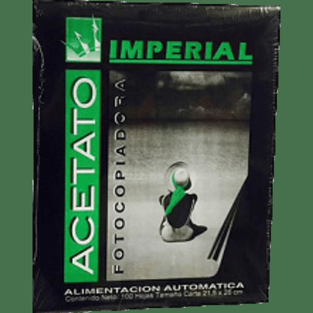 Acetato tamaño carta para copiadora de tóner seco con 100 hojas