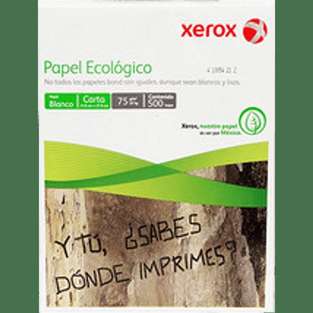 Papel Bond Ecológico color blanco, tamaño carta paquete con 500 hojas.