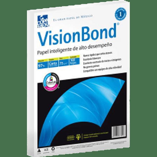 Papel Bond tamaño carta de 97% de blancura, paquete con 500 hojas