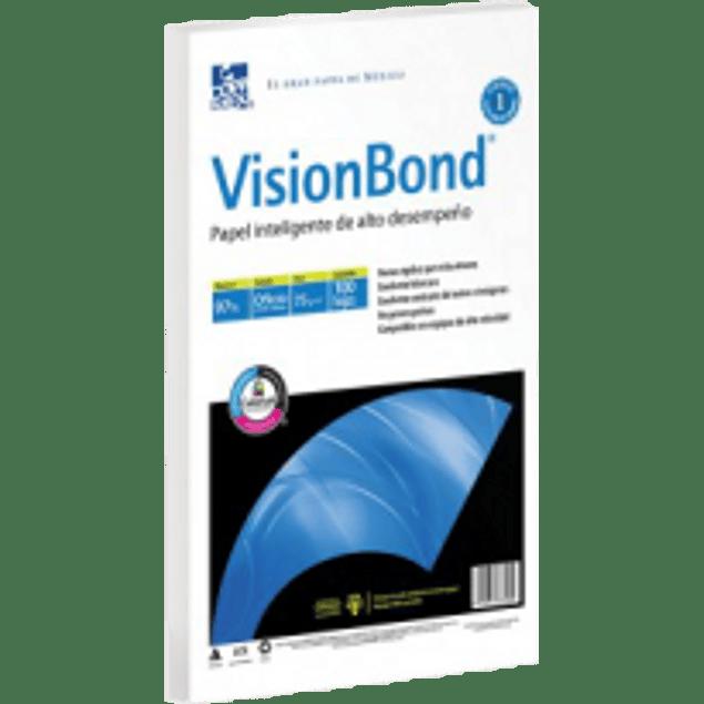 Papel Bond tamaño oficio de 75 gramos con 97% de blancura, paquete con 500 hojas