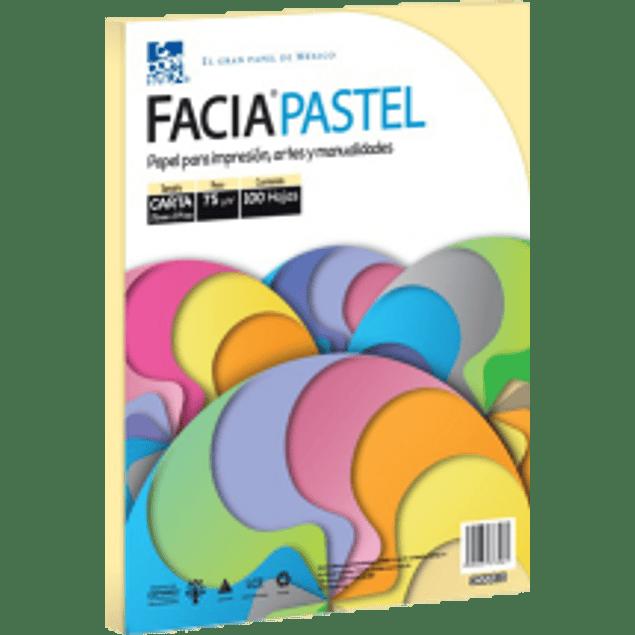 Papel color amarillo pastel tamaño carta, paquete con 100 hojas.