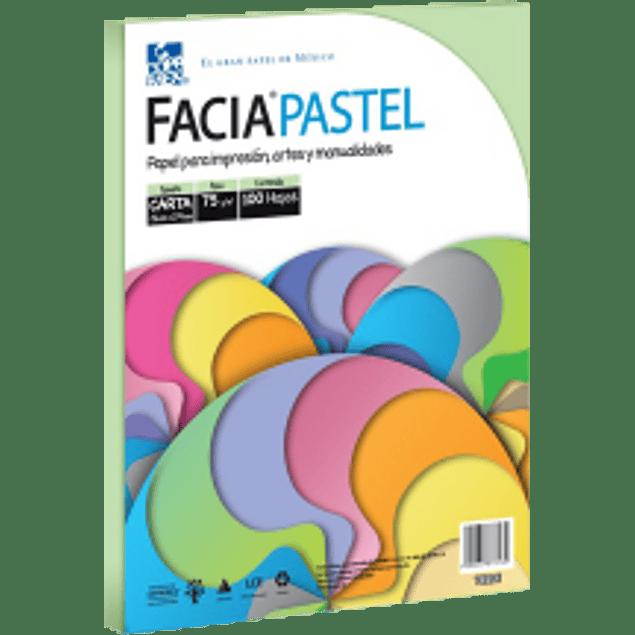 Papel color verde pastel tamaño carta, paquete con 100 hojas.