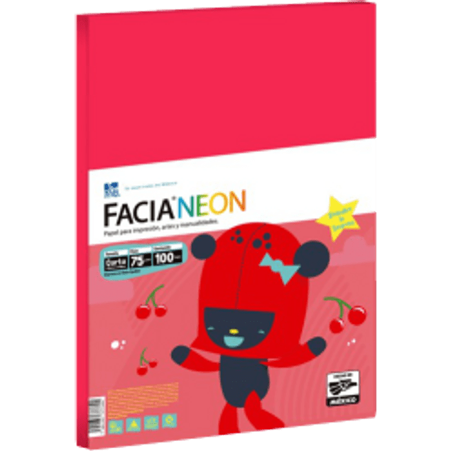 Papel de color rojo tamaño carta, paquete de 100 hojas.