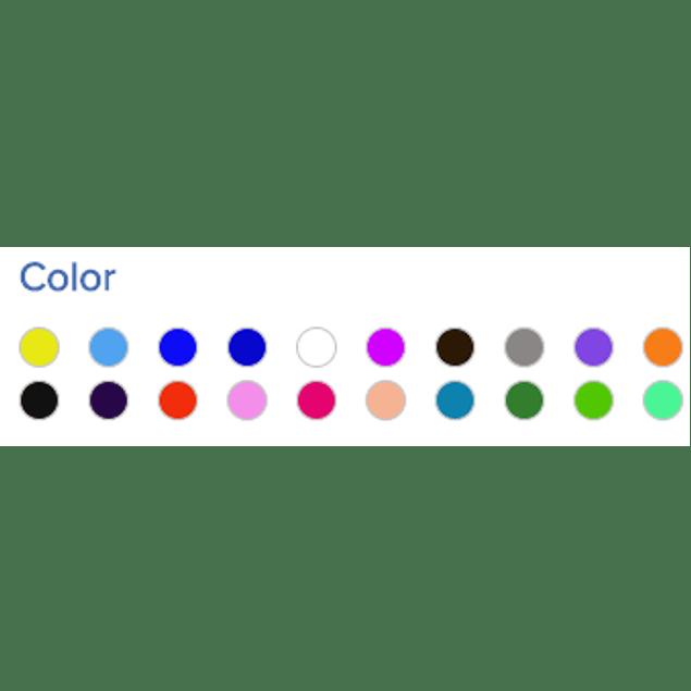 Rollo de Papel tipo América, diferentes colores