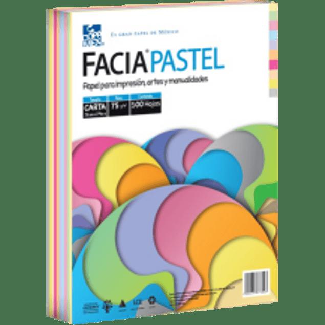 Papel pastel tamaño carta 75 gramos, con 1 paquete de 500 hojas en 10 colores mix