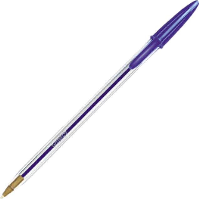 Bolígrafo color azul punto mediano