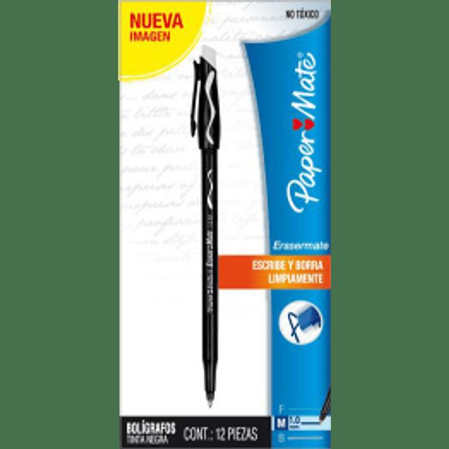 Bolígrafo Borrable Color Negro.