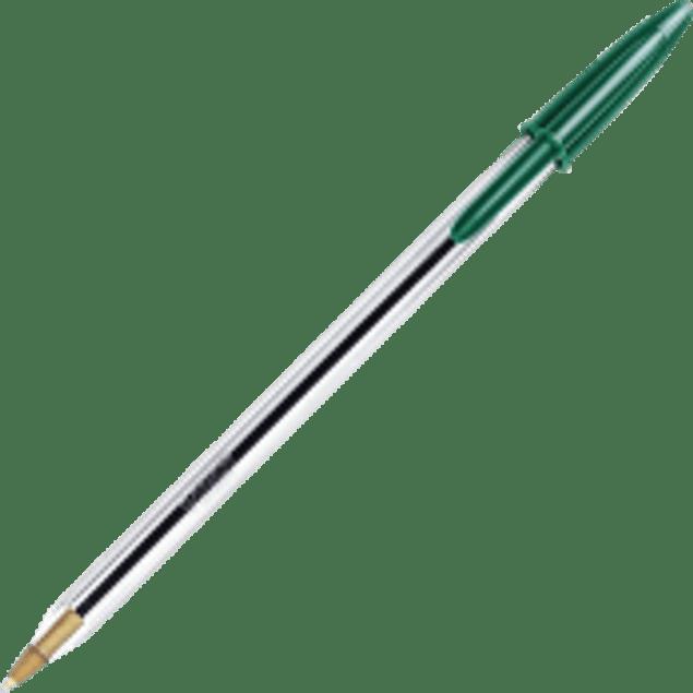 Bolígrafo punto mediano, color verde.
