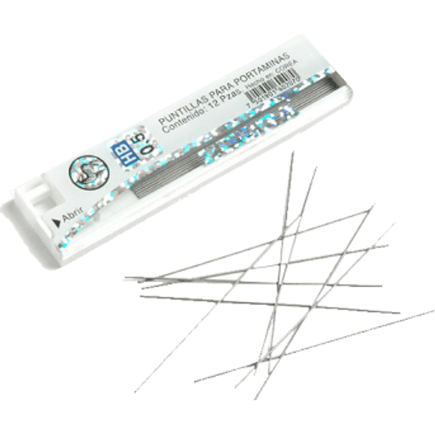 Puntillas de grafito de 0.5 mm, tubo con 12 piezas