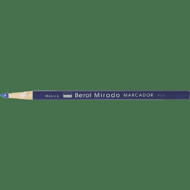 Marcador de cera color azul