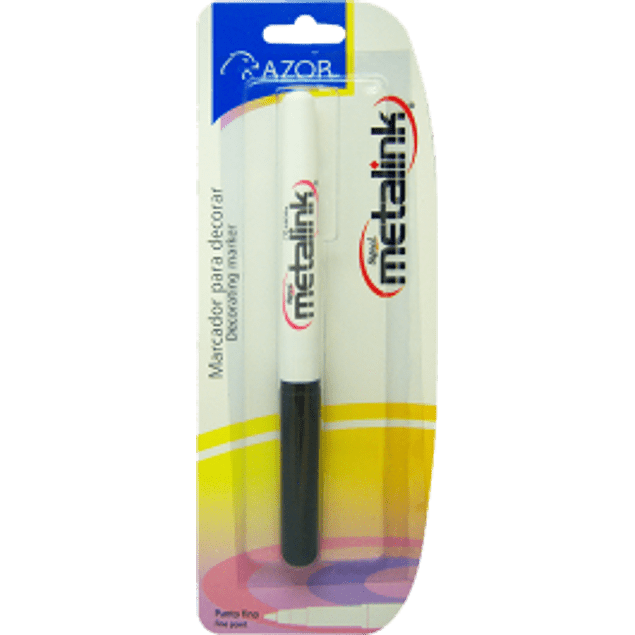 Marcador tinta permanente color blanco, Signal Metalink