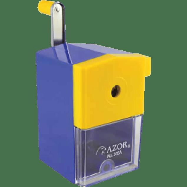 Sacapuntas manual de manija con caja de deposito