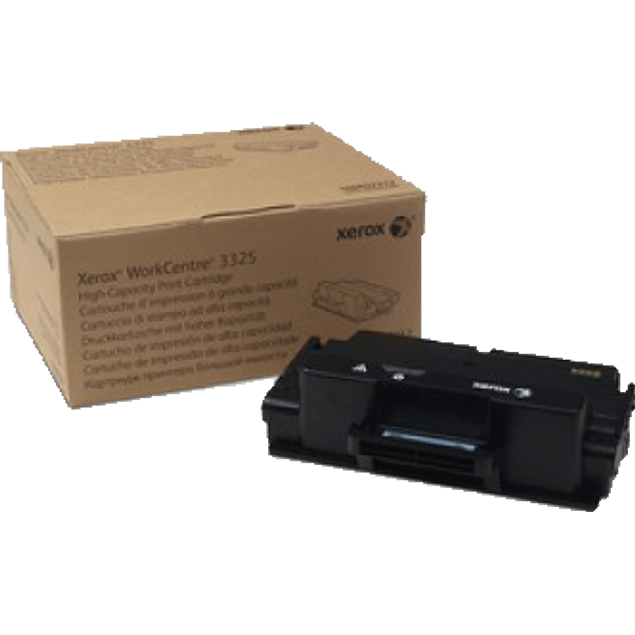 Cartucho de tóner color negro, alta capacidad, workcentre 3325, 11k