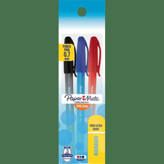 Bolígrafo varios colores, paquete con 3 piezas, Kilométrico Ink Joy
