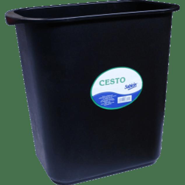 Cesto para basura rectangular color negro