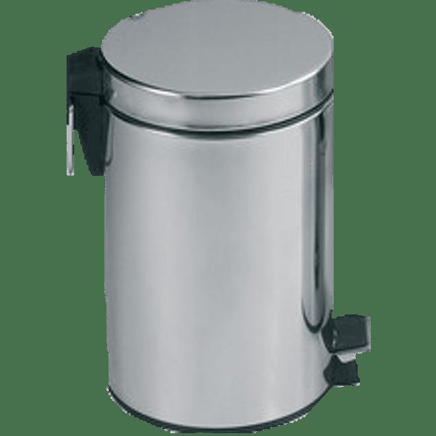 Bote de  basura metálico capacidad aprox 5 litros