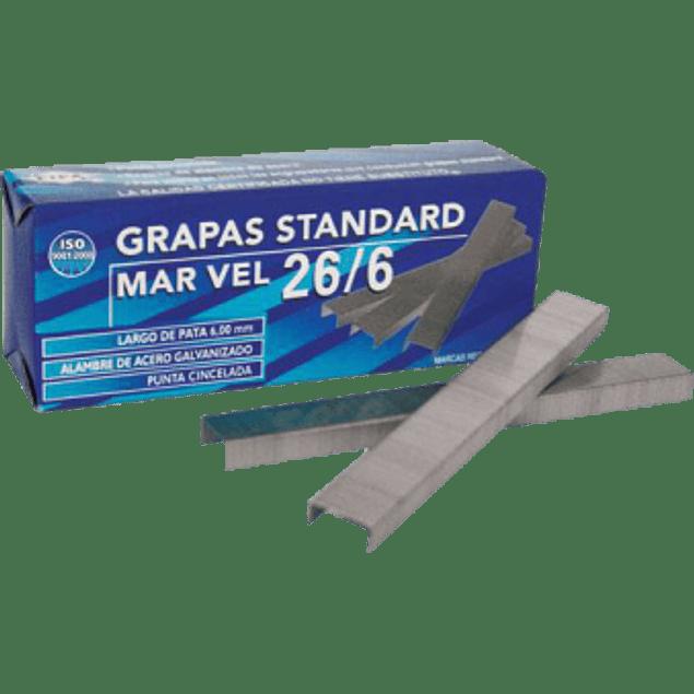 Grapas estándar Marvel 26/6