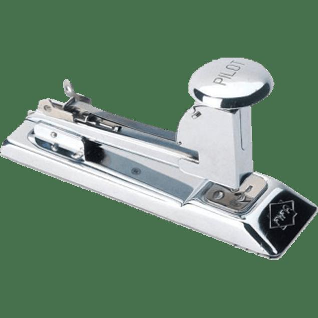 Engrapadora tira completa de golpe modelo 400, cromo de alto brillo