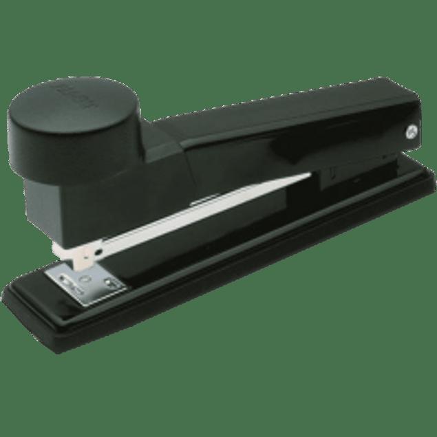 Engrapadora de acero color negro, tira completa, de golpe modelo GM270.