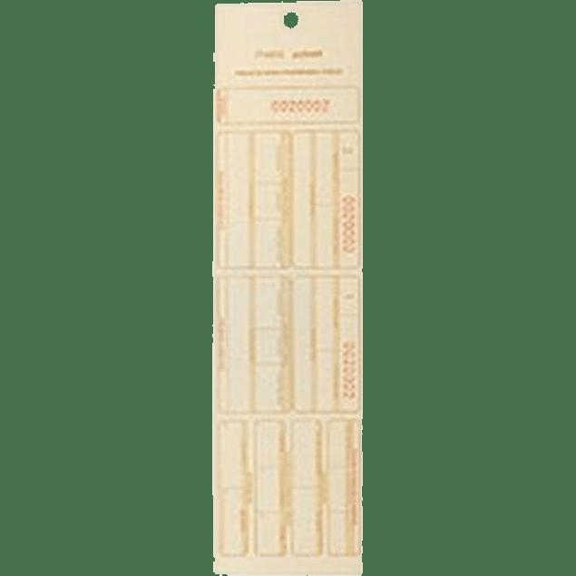 Tarjeta de inventario físico, tamaño 1/8 de carta