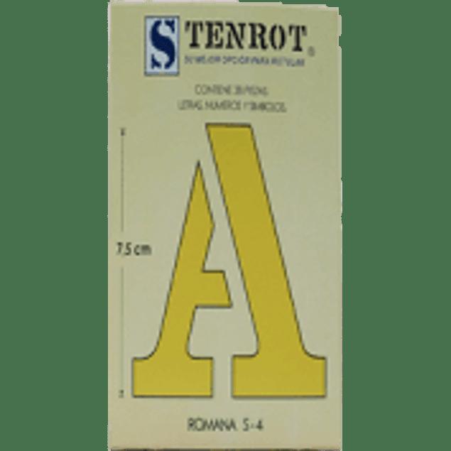 Plantilla de Cartulina Letras, Números Gioser S-4