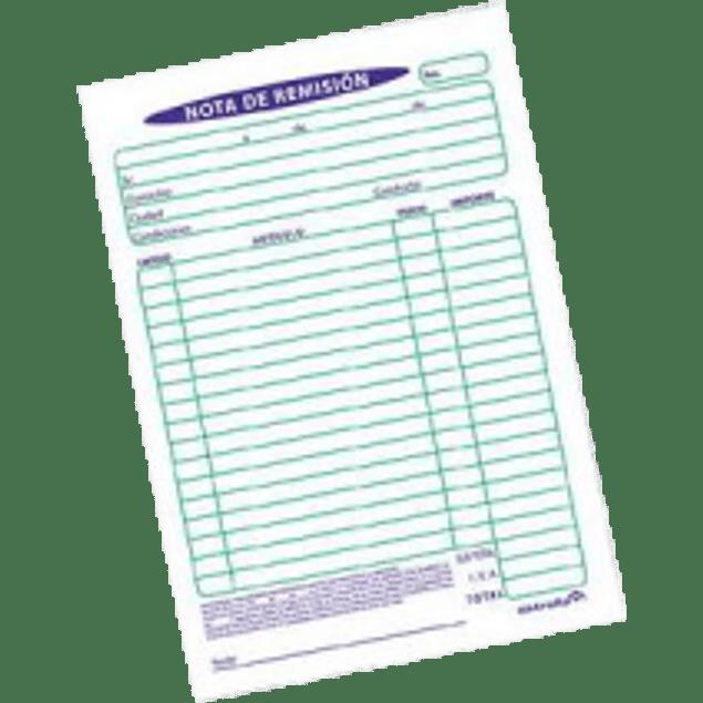Block de Notas de Remisión No. 32-D
