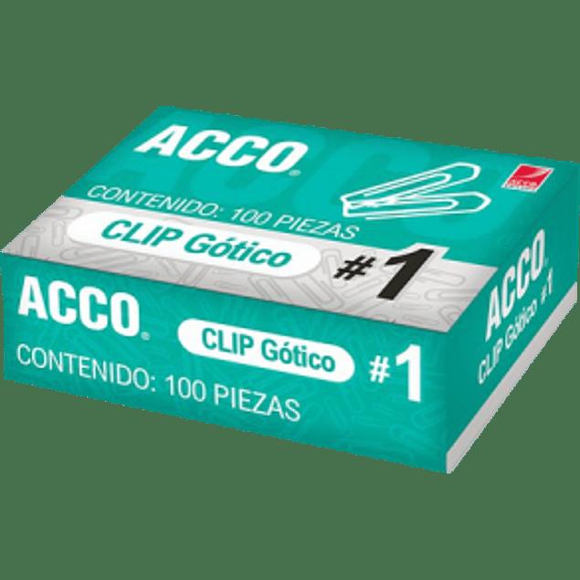 Clip Gótico No.1, capacidad para 25 hojas.