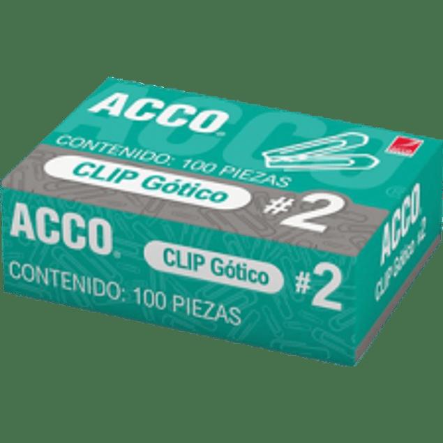 Clip Gótico No.2, capacidad para 20 y 25 hojas.