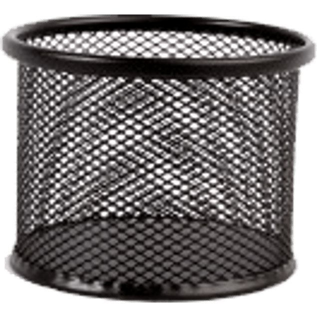 Porta clips malla metálica color negro