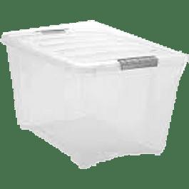 Caja Plástica Estibable, capacidad 12 litros.