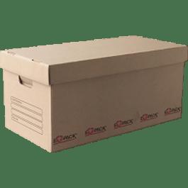 Caja de Cartón para Archivos con tapa separada, tamaño 61 x 30 x 58 cm.