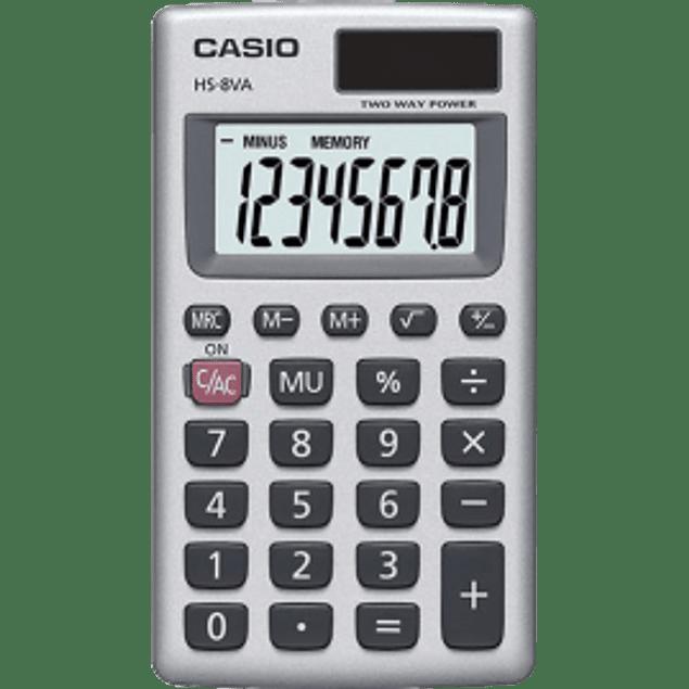 Calculadora básica de bolsillo de 8 dígitos.