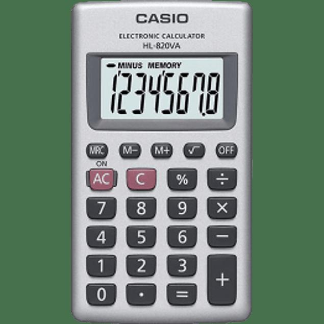 Calculadora de bolsillo de 8 dígitos.
