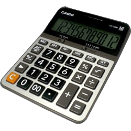 Calculadora de escritorio DX-120B de 12 dígitos.
