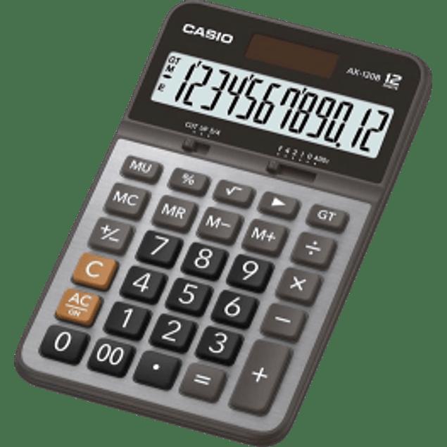 Calculadora de escritorio AX-120B, 12 dígitos 176 x 107 x 25 mm, cubierta plástico