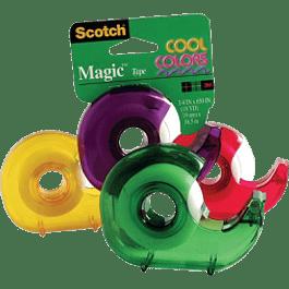Cinta adhesiva: cinta mágica 810 Cool Colors, medidas 19 mm x 16.5 m.