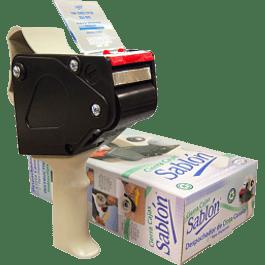 Despachador para cinta de empaque base metálica, Sablón